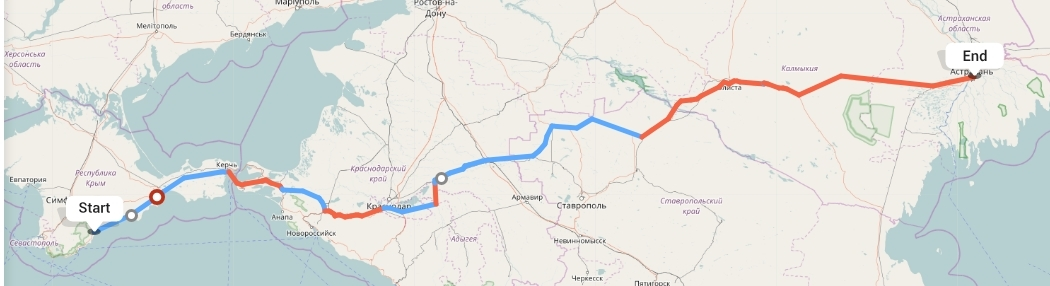 Переезд из Алушты в Астрахань