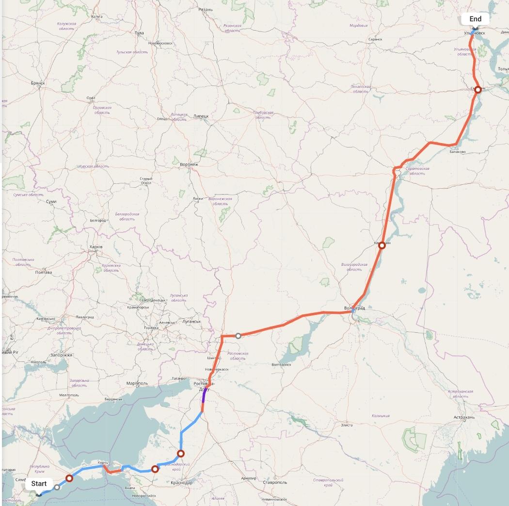 Переезд из Алушты в Ульяновск