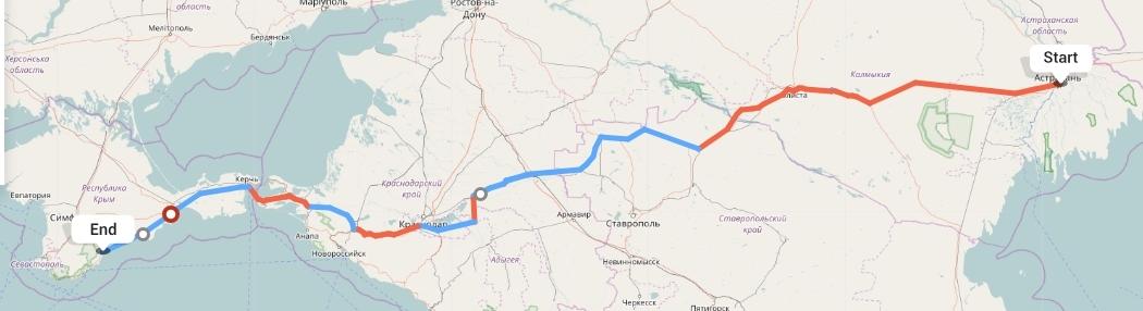 Переезд из Астрахани в Алушту