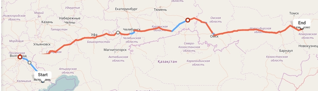 Переезд из Астрахани в Кемерово