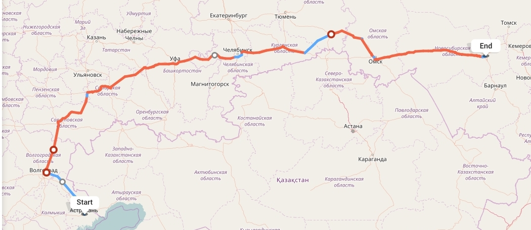 Переезд из Астрахани в Новосибирск
