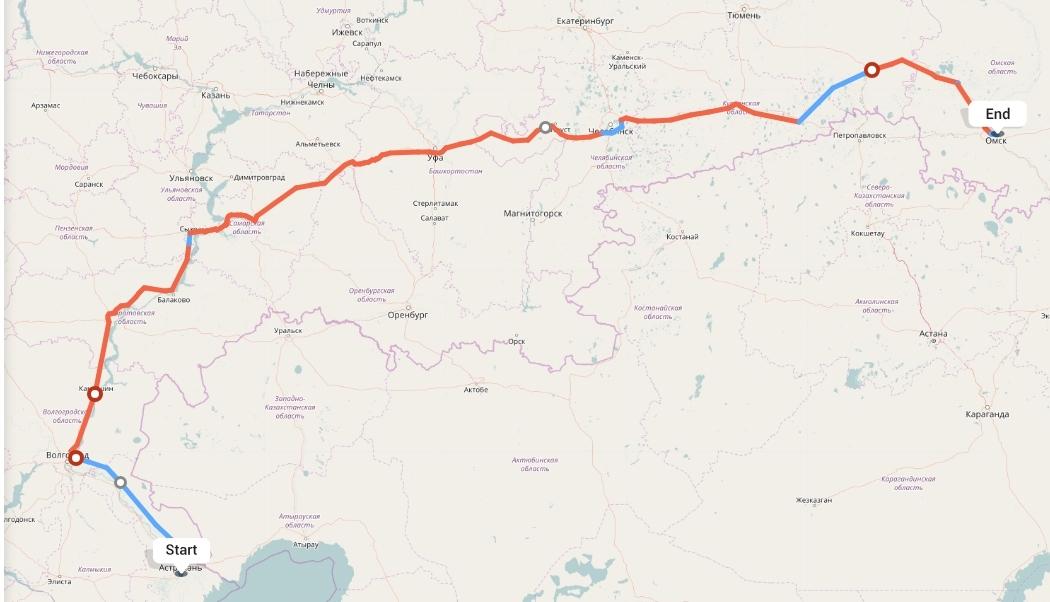 Переезд из Астрахани в Омск