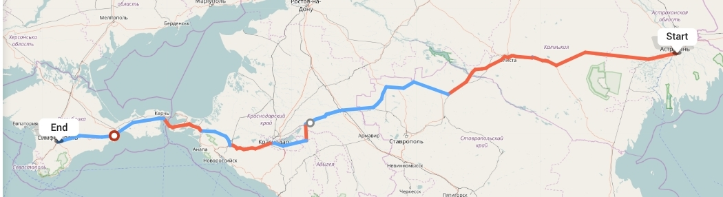 Переезд из Астрахани в Симферополь