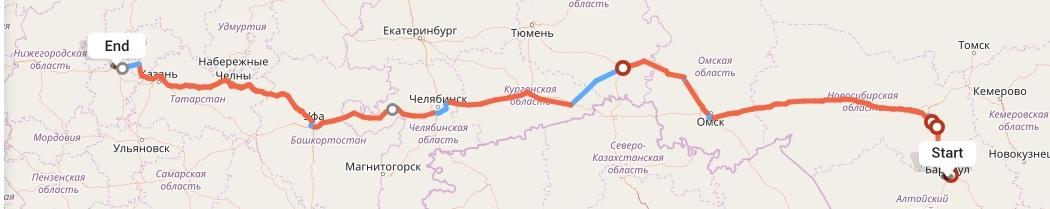 Переезд из Барнаула в Чебоксары
