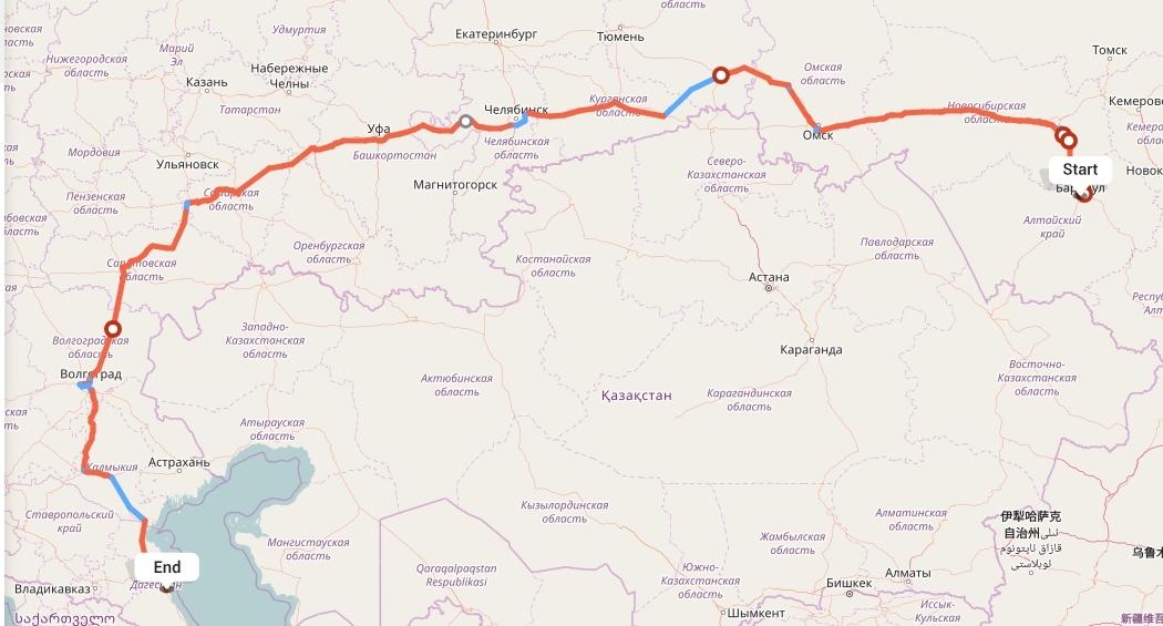 Переезд из Барнаула в Махачкалу