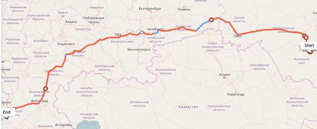 Переезд из Барнаула в Ростов-на-Дону