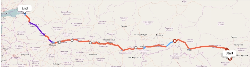 Переезд из Барнаула в Санкт-Петербург