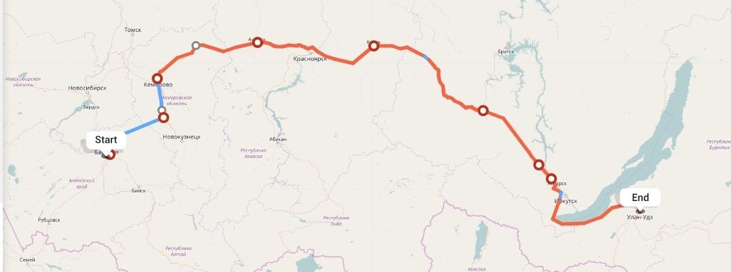 Переезд из Барнаула в Улан-Удэ