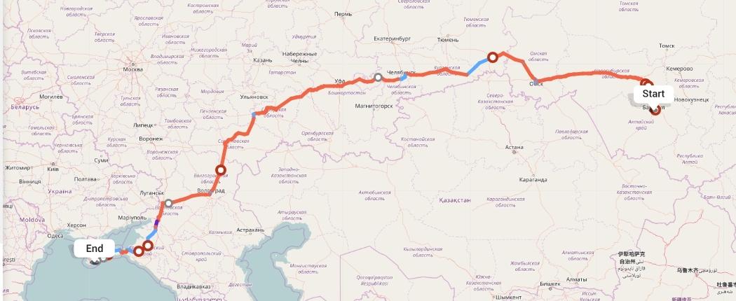 Переезд из Барнаула в Ялту