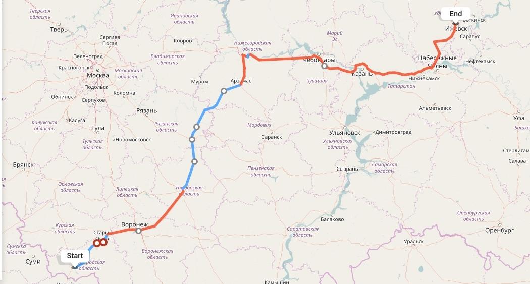 Переезд из Белгорода в Ижевск