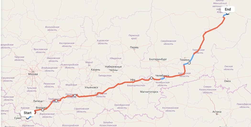 Переезд из Белгорода в Сургут