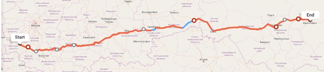 Переезд из Брянска в Красноярск