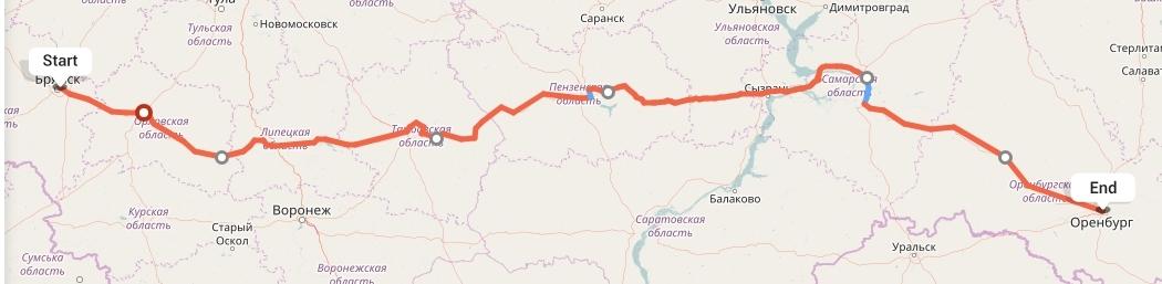 Переезд из Брянска в Оренбург