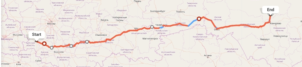 Переезд из Брянска в Томск