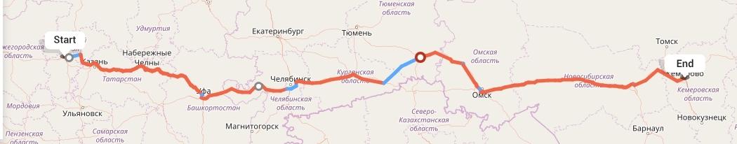 Переезд из Чебоксар в Кемерово