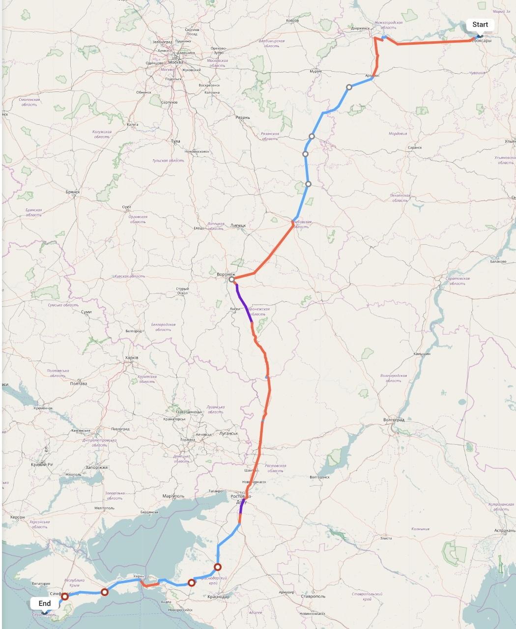 Переезд из Чебоксар в Севастополь