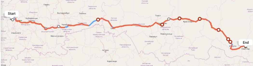 Переезд из Чебоксар в Улан-Удэ