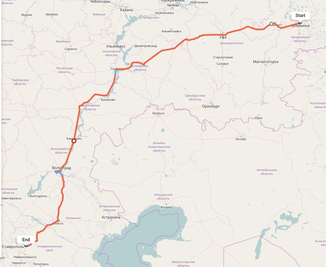 Переезд из Челябинска в Ставрополь
