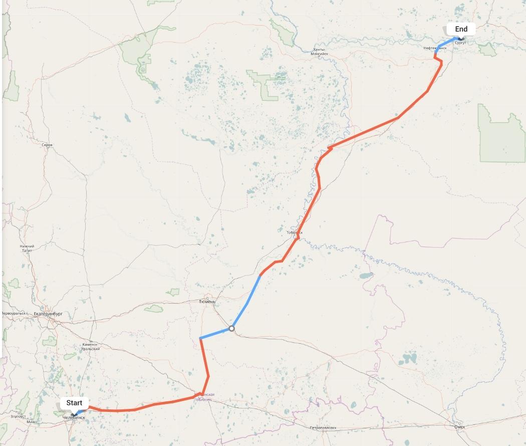 Переезд из Челябинска в Сургут