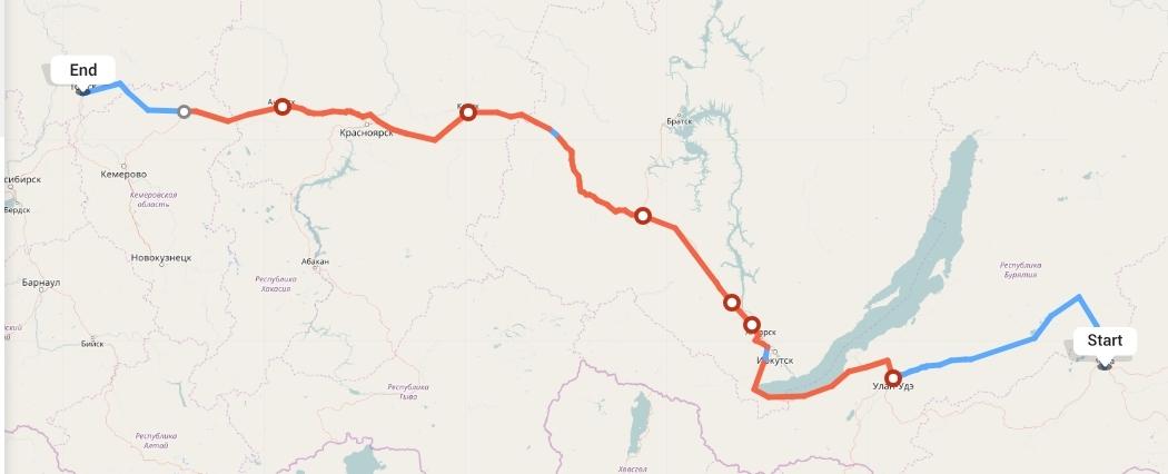 Переезд из Читы в Томск