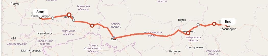 Переезд из Екатеринбурга в Красноярск