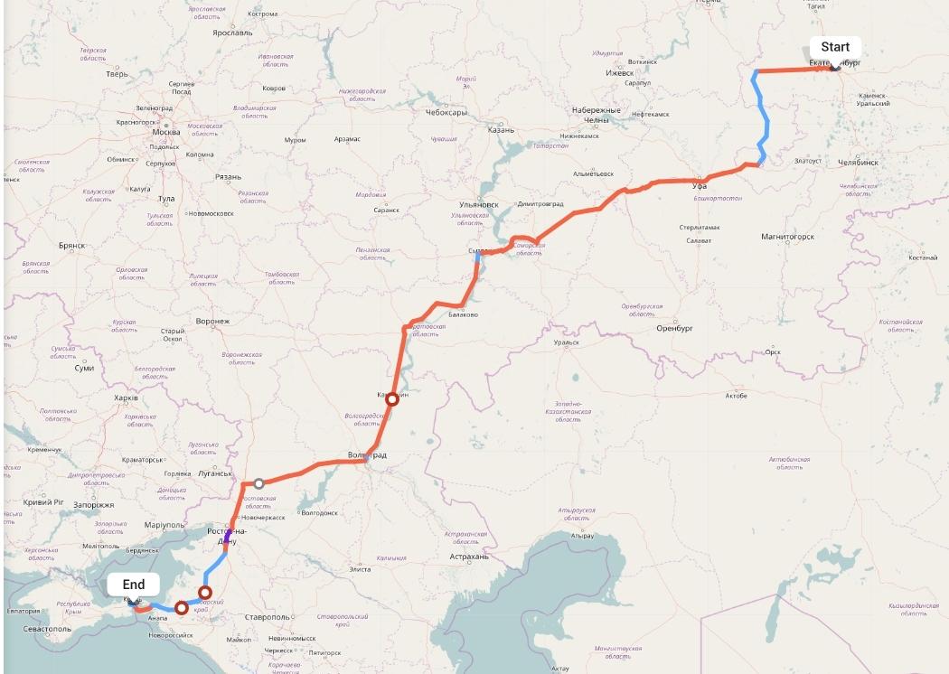 Переезд из Екатеринбурга в Крым