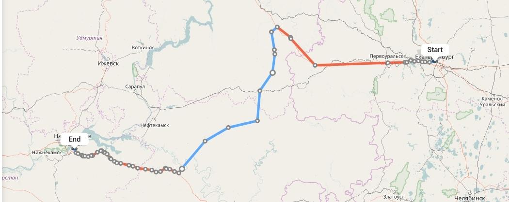 Переезд из Екатеринбурга в Набережные Челны