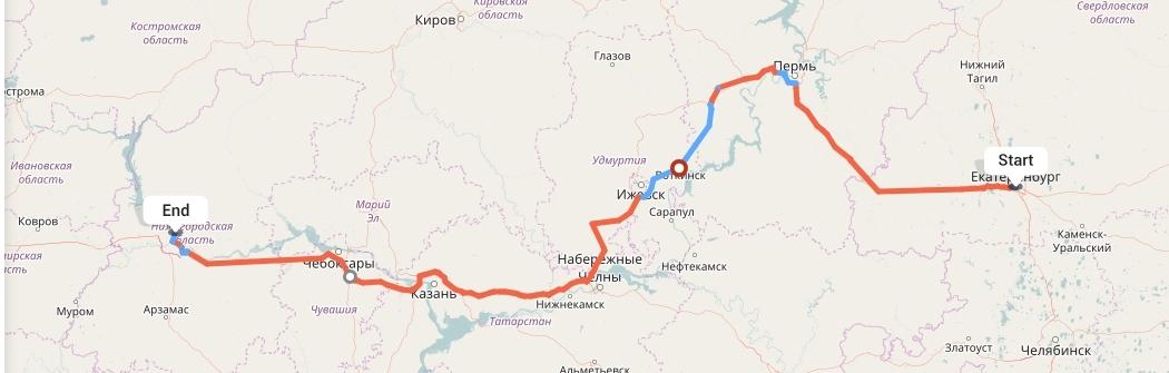 Переезд из Екатеринбурга в Нижний Новгород