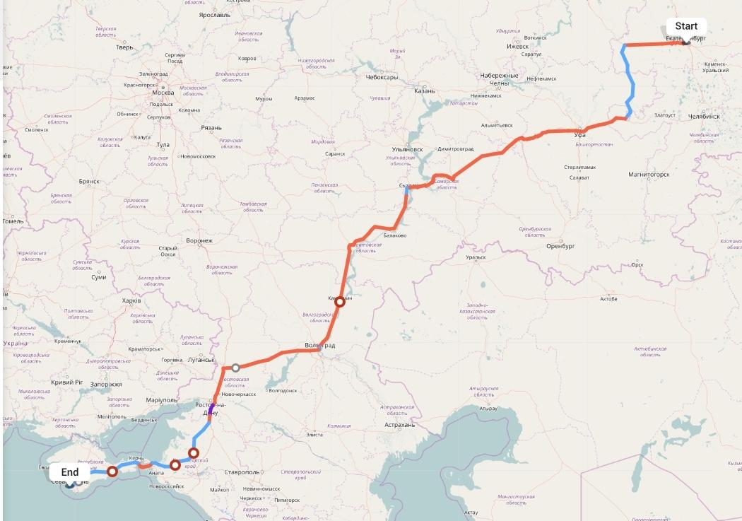 Переезд из Екатеринбурга в Севастополь