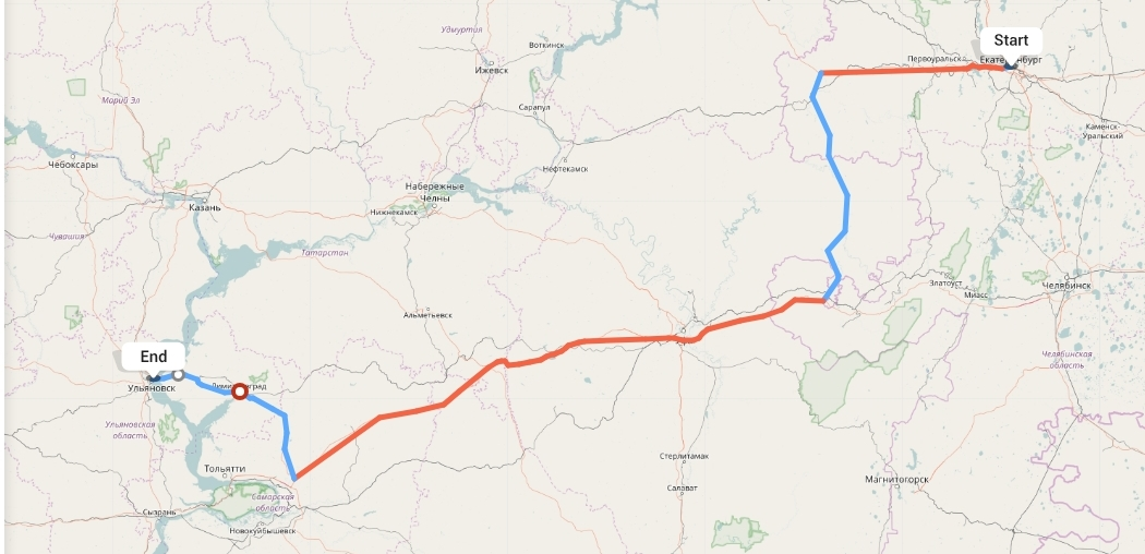 Переезд из Екатеринбурга в Ульяновск