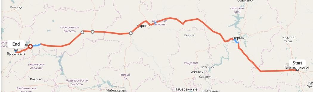 Переезд из Екатеринбурга в Ярославль
