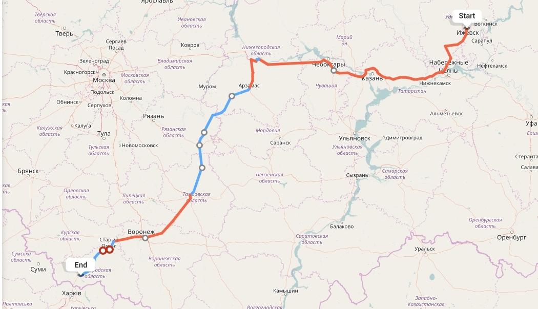 Переезд из Ижевска в Белгород