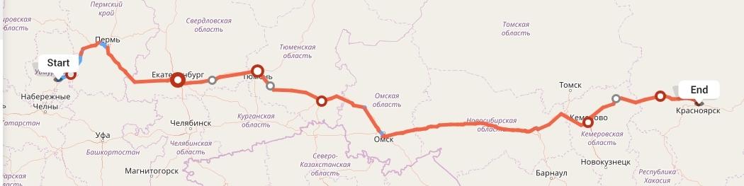 Переезд из Ижевска в Красноярск