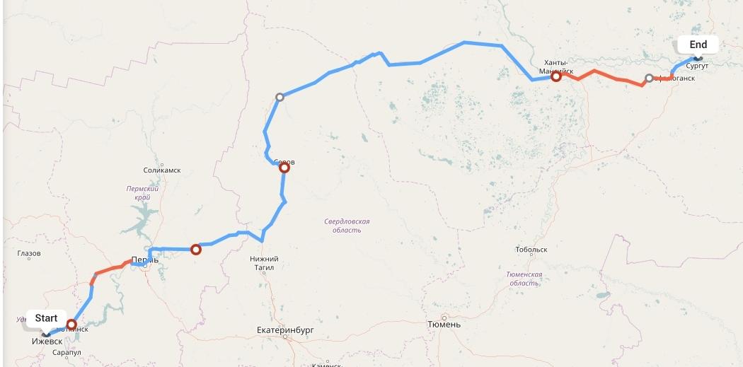 Переезд из Ижевска в Сургут