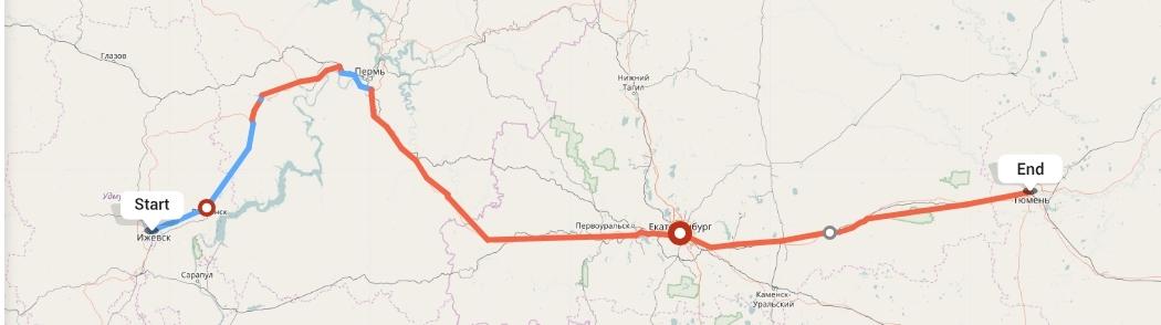 Переезд из Ижевска в Тюмень