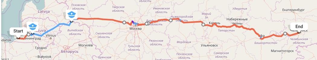 Переезд из Калининграда в Челябинск