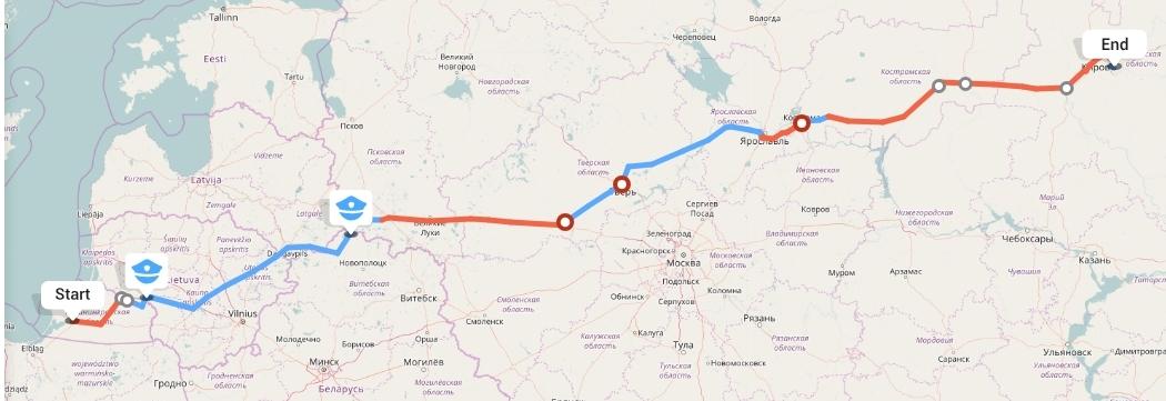 Переезд из Калининграда в Киров