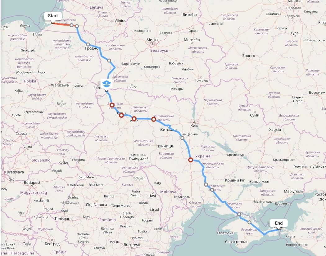 Переезд из Калининграда в Крым