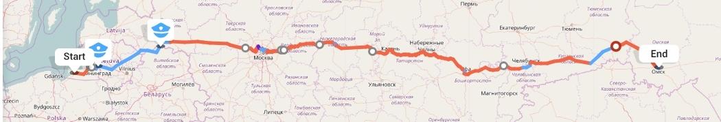 Переезд из Калининграда в Омск