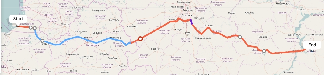 Переезд из Калининграда в Самару