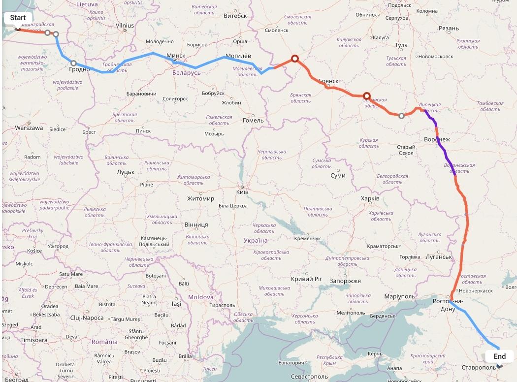 Переезд из Калининграда в Ставрополь