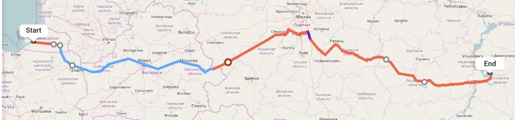 Переезд из Калининграда в Тольятти