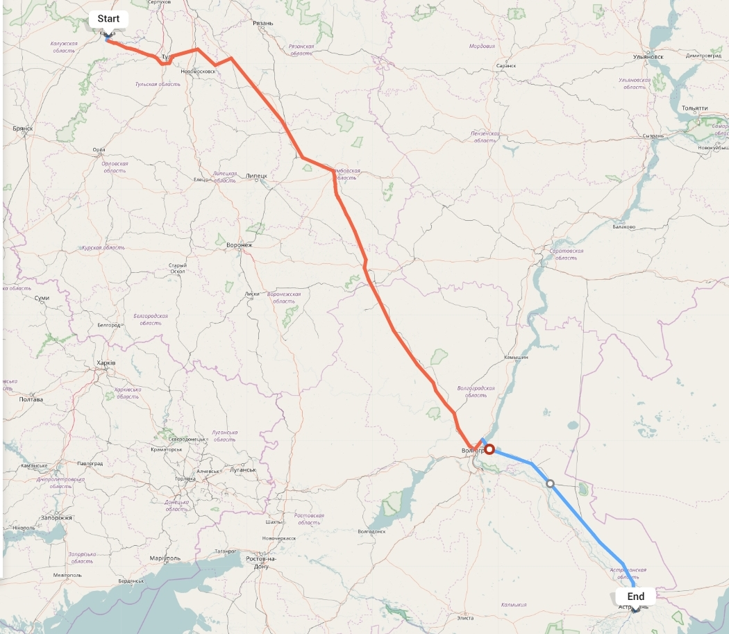 Переезд из Калуги в Астрахань