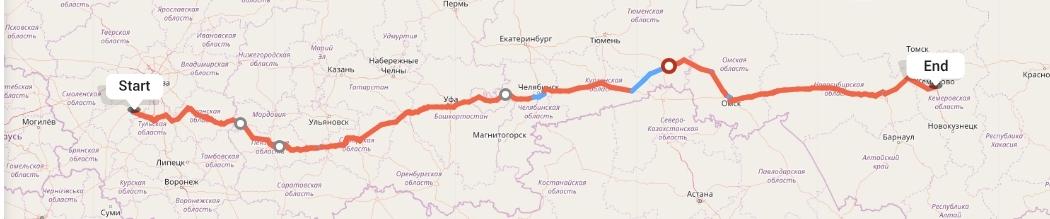 Переезд из Калуги в Кемерово