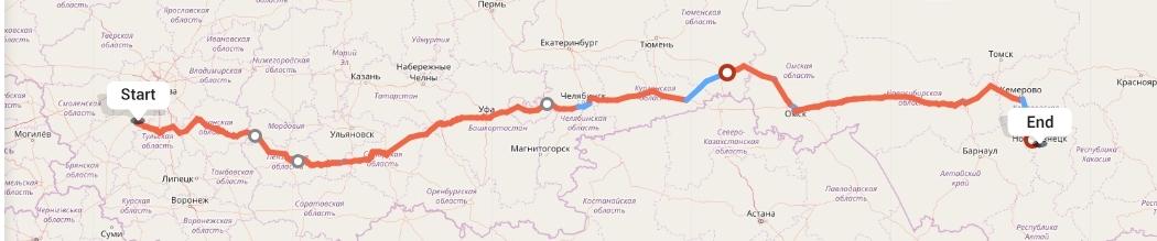 Переезд из Калуги в Новокузнецк