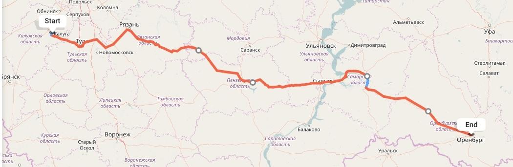 Переезд из Калуги в Оренбург
