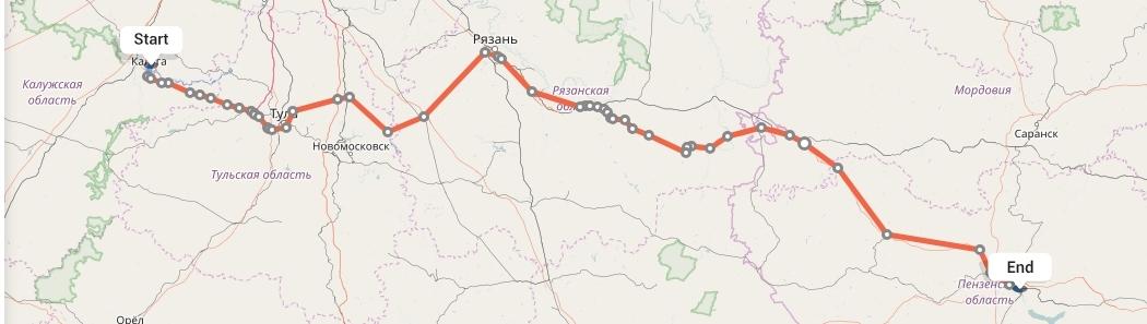Переезд из Калуги в Пензу