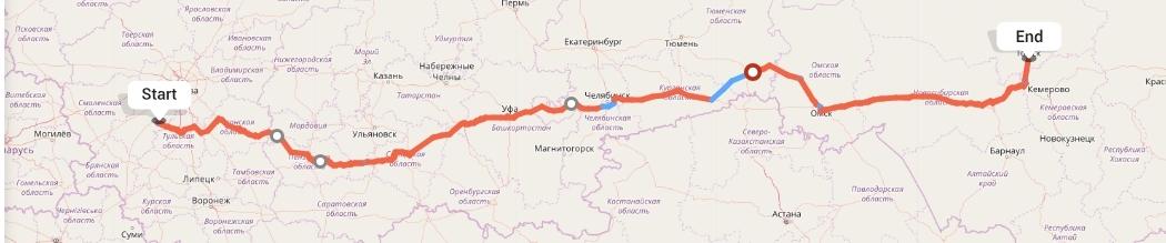 Переезд из Калуги в Томск