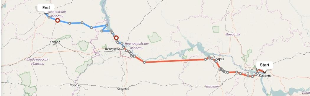 Переезд из Казани в Иваново