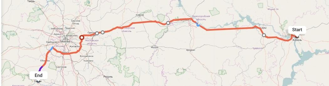 Переезд из Казани в Калугу
